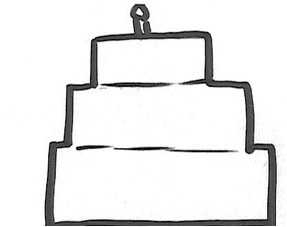 How Do You Draw A Rectangle Cake Step By Step